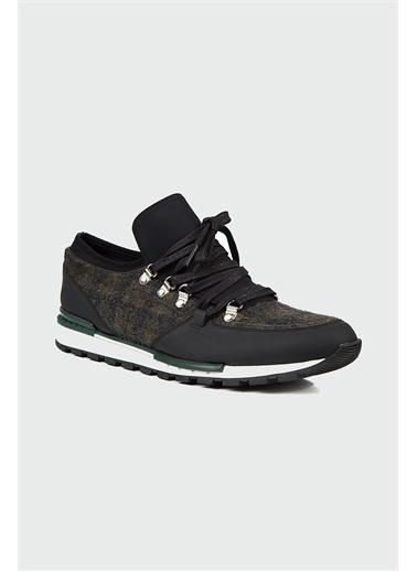 Tween Tween Deri Bağcıklı Kumaş Detaylı Erkek Günlük Ayakkabı Kahve